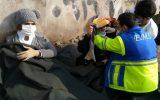پنج مصدوم در تصادف زنجیره ای  جاده خاوران