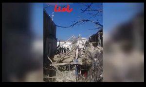 انفجار مهیب یک ساختمان در خرم آباد+فیلم