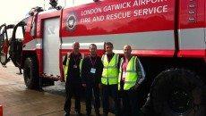 همایش آتش¬نشانان فرودگاهی این بار در فرودگاه Gatwick London