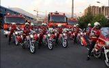 برگزاری اولین مانور عمود پرواز آتش نشان و پلیس ترافیک در اصفهان