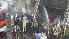 حریق در کارخانه تجهیزات برقی
