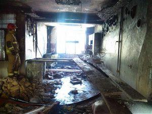 نجات سه نفر در آتش سوزی ساختمان محله افسریه
