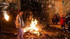 رشد 2 برابری آتش سوزی های چهارشنبه سوری در کرمانشاه
