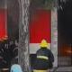 آتش سوزی یک مغازه و انفجار ناگهانی آن