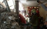 ریزش ساختمان ۴ طبقه قدیمی در گیشا