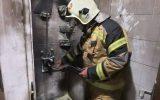 آتش سوزی در منزل مسکونی در خیابان شهید بروجردی