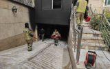 آتش سوزی مهیب در خیابان اختیاریه