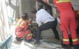 نجات خانم ۴۰ ساله از سقوط در چاه
