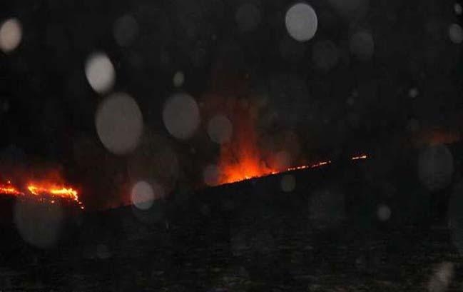 آتش سوزی در پارک جنگلی آبیدر سنندج