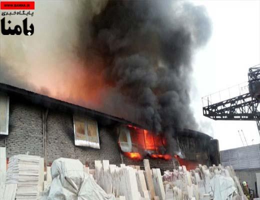 مهار آتش سوزی گسترده در غرب تهران، مصدومیت ۳ آتش نشان