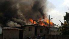 خانه ای که با تاخیر آتش نشانی خاکستر شد!