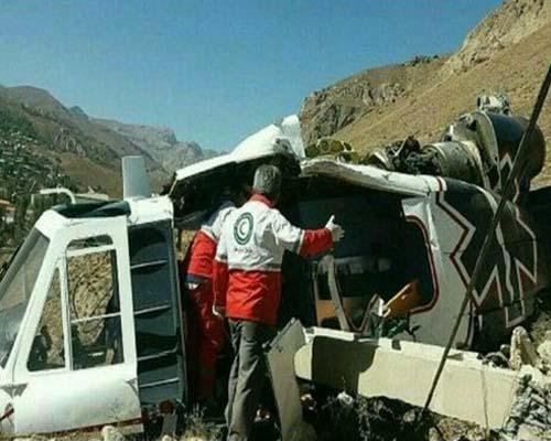 سقوط بالگرد اورژانس ۱۱۵ و مرگ یک تکنسین
