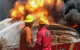 آتش سوزی در انبار ضایعات پتروشیمی امام/ حادثه جزئی است