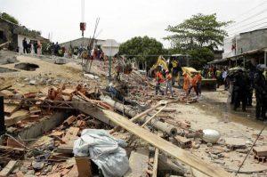 ریزش مرگبار ساختمان نیمه کاره در کلمبیا