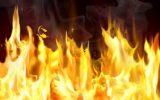 کودک بازیگوش آتش بپا کرد