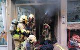 انفجار و آتش سوزی هولناک در خیابان فاطمی