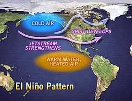 """""""ال نینو"""" الگوهای آب و هوایی جهان را تغییر میدهد"""