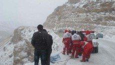 امدادرسانی به شهروندان گرفتار در برف و کولاک 20 استان