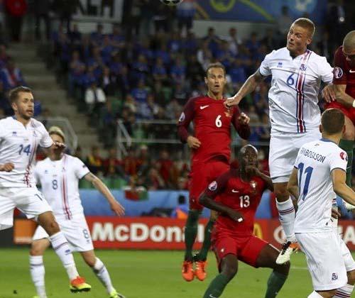 توقف پرتغال برابر ایسلند در اولین گام