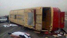آخرین وضعیت مجروحان سانحه اتوبوس دانشگاه آزاد نجف آباد