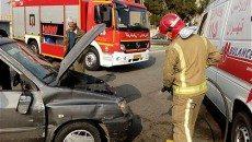 واژگونی خودروی سواری یک مصدوم بر جای گذاشت