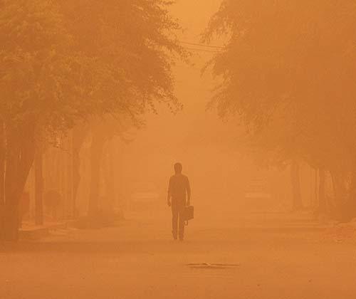 گرد و غبار دانه ریز عراق تهدید جدی برای سلامت خوزستانی ها