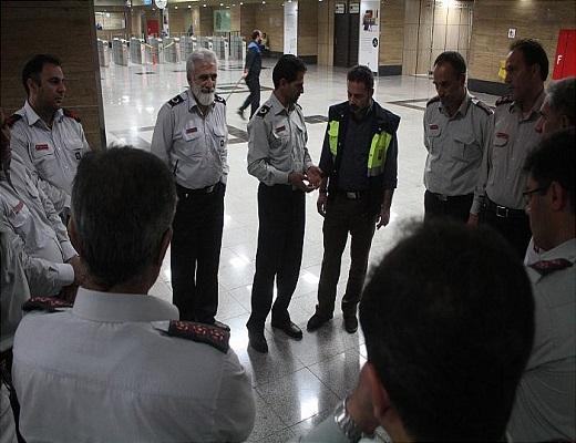 بازدید مدیران عملیات منطقه ۴ آتش نشانی از مترو