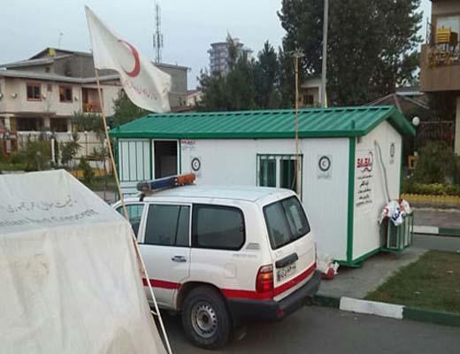 فعالیت ۱۷ پایگاه امداد و نجات بوشهر در کانکس