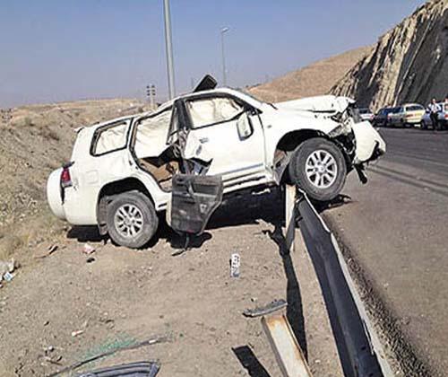 واژگونی خودروی خاور بر روی سواری لیفان با مصدومیت یک نفر