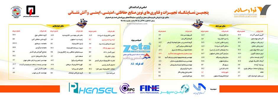 لیست شرکت کنندگان