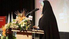 معصومه آباد عضو شورای شهر تهران در مراسم اختتامیه اولین همایش آتش نشانی و ایمنی شهری