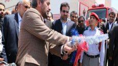 با اعتبار بیش از یک میلیارد تومان ایستگاه آتش نشانی شهرک مهرگان مشهد افتتاح شد