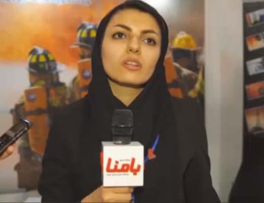 مرادی، کارشناس فروش بخش آتش نشانی شرکت آذرکاوین