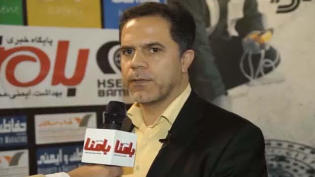 نریمان نژاد، رئیس بخش ایمنی آتش نشانی صنایع شرکت ملی پتروشیمی