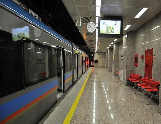 مانور امدادی هلال احمر در مترو تهران