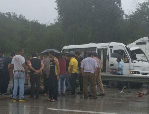 آخرین جزییات از تصادف خودروی حامل سربازان در نوشهر