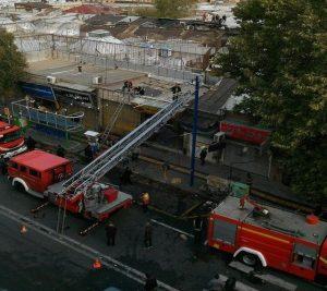 مهار آتش سوزی در بازار تاریخی ارومیه و صدمه به چند مغازه