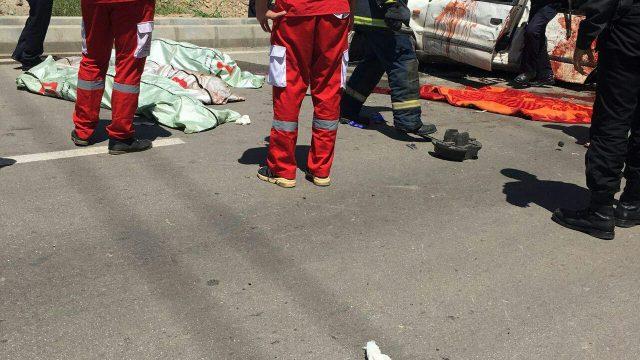 تصادف وحشتناک در قزوین