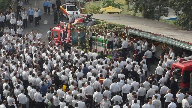 تشییع جنازه شهید آتش نشان علی قانع