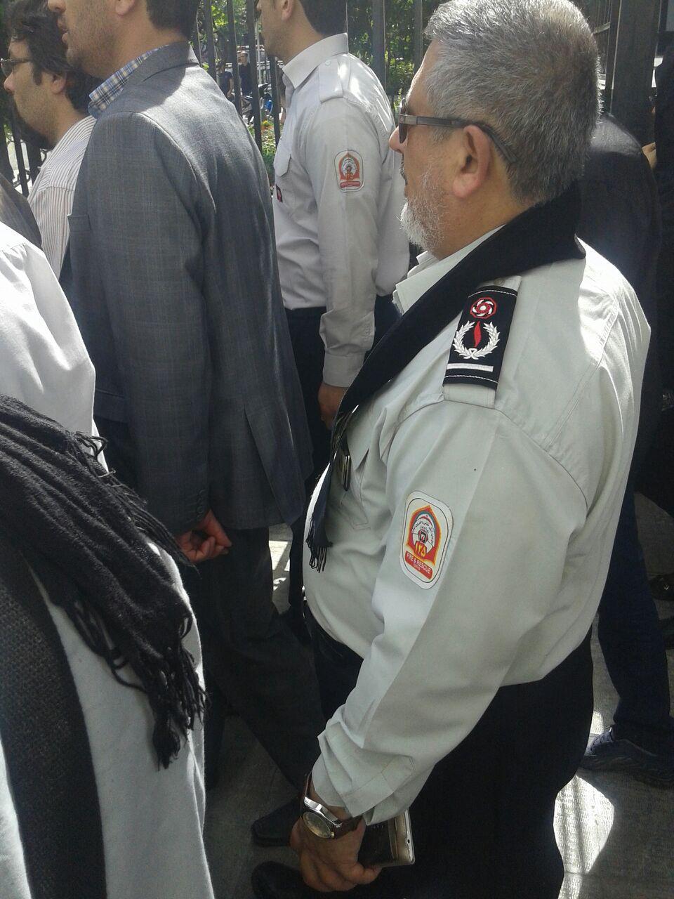حضور مدیرعامل سازمان آتش نشانی تهران: