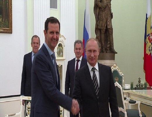 """دیدار اسد با پوتین در مسکو/ اسد: پوتین مانع از """"سناریوی فاجعهبار"""" در سوریه شد"""