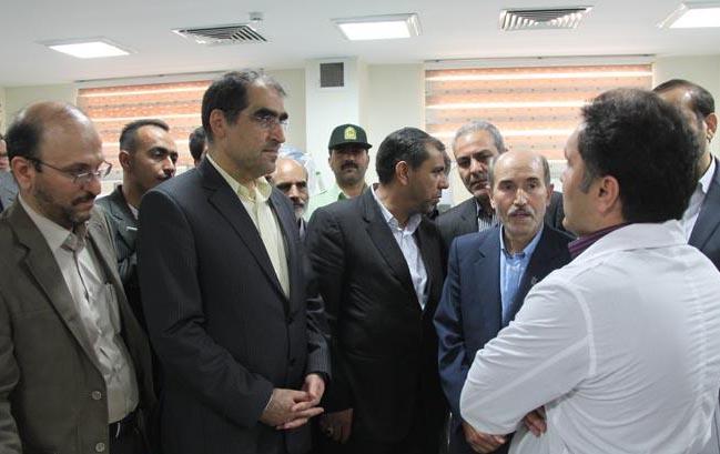 بازدید وزیر بهداشت از مراکز بهداشتی درمانی شهرری