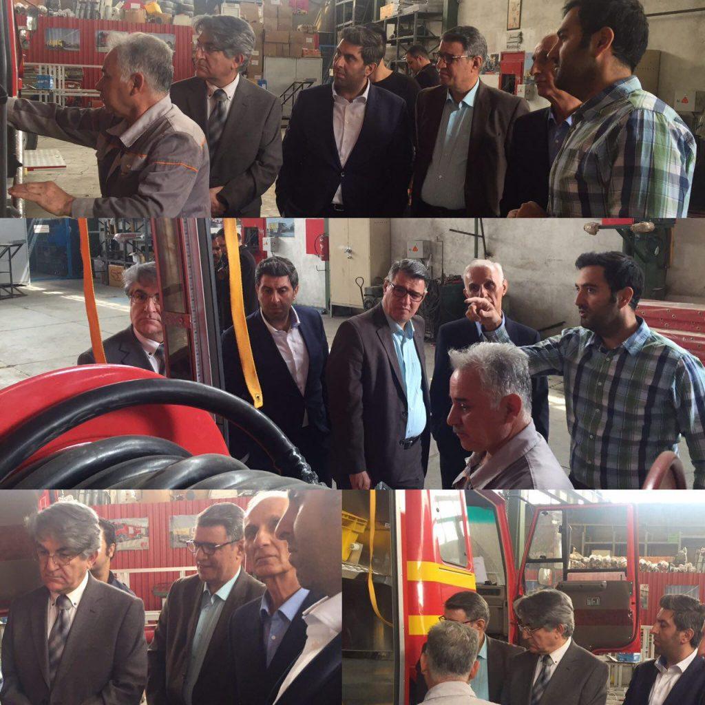 بازدید اعضای کارگروه مشترک تولید تجهیزات ایمنی و آتش نشانی کشور از همایش مسئولین ایمنی تایید صلاحیت شده