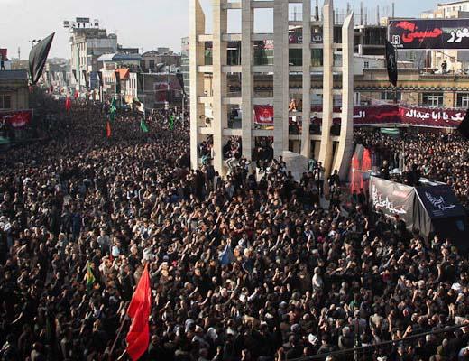 افزایش بهداشت نذورات قربانی در مسیر دسته حسینیه اعظم زنجان