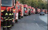 آماده باش نیروهای آتش نشانی در شهرآورد ۸۴