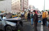 ۵ مصدوم در حادثه تصادف بزرگراه یادگار امام