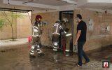 نجات ۲۷ شهروند از میان آتش و دود