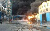 آتش سوزی مهیب در شهرک صنعتی شکوهیه