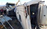 ۵ فوتی در حادثه واژگونی اتوبوس سربازان ناجا