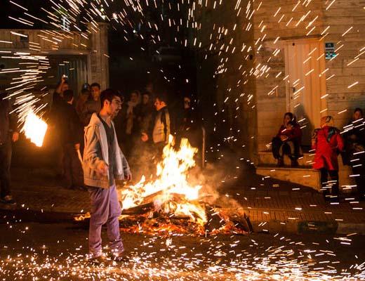 رشد ۲ برابری آتش سوزی های چهارشنبه سوری در کرمانشاه